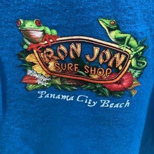 EUC Ron Jon medium blue tee shirt